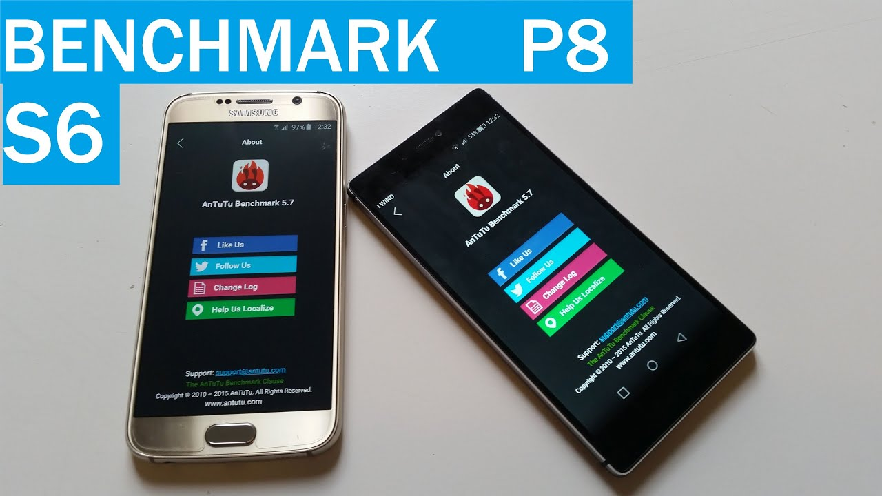 Test Antutu Benchmark Samsung S6 contro Huawei P8 - YouTube