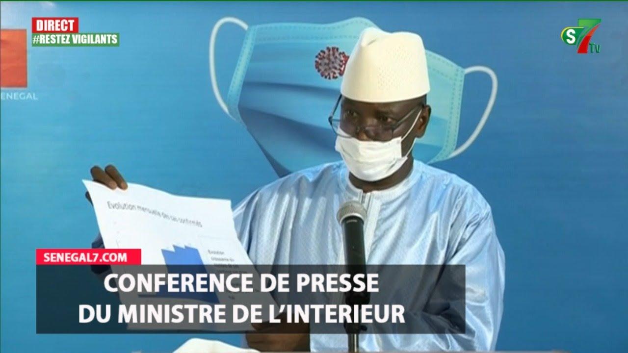 Covid 19 : Conference de Presse du ministre de l'intérieur Mr Aly Ngouille Ndiaye