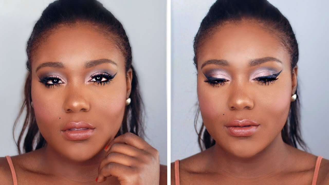 Flawless Foundation + Romantic Pinks Makeup Tutorial // Black ...