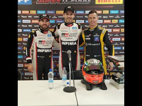 Los protagonistas del podio del Súper TC2000 en San Nicolás
