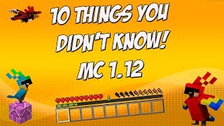 10 Things you didn't know about Minecraft 1.12