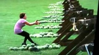 Watermelon to face, SLOW MOTION (Amazing Race)