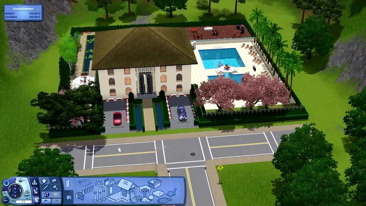 Sims 3 haus bauen 8 ferienhaus holiday mansion youtube for Sims 4 dach bauen