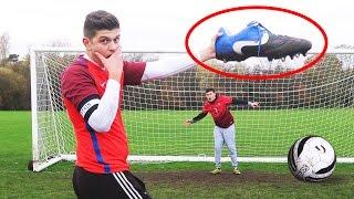 GIANT BOOTS FOOTBALL CHALLENGE!!