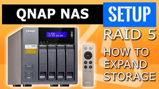 QNAP NAS RAID 5 expansion Data protection, how to expand storage. RAID level upgrade hard drives