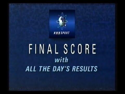 BBC1 Continuity & Final Score (incomplete) - 1989
