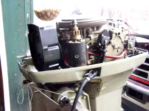 1977 evinrude 55hp outboard runs youtube for 55 johnson outboard motor