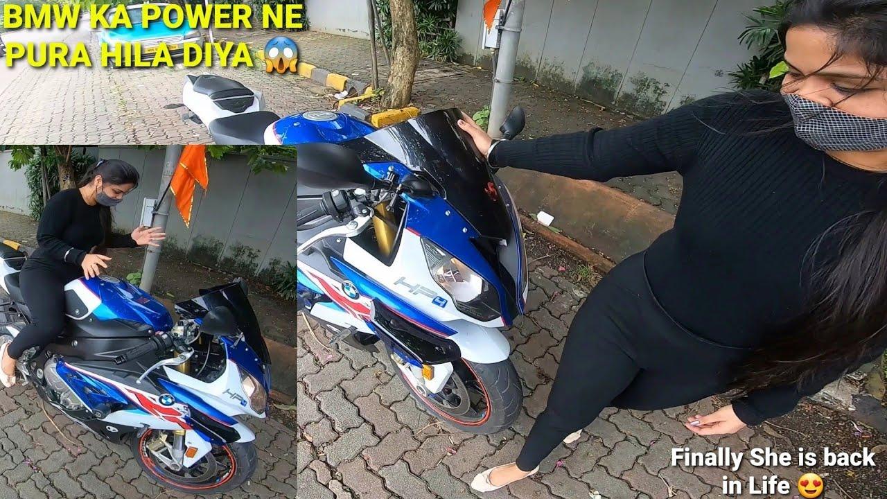 Cute Girl Ne New Superbike liya!😱|S1000 Ne Pura Hila diya😍|Maya is back|Must watch|Z900 Rider