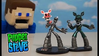 Five Nights at Freddy's HEROWORLD WAVE 2 - Mangle, Phantom Foxy Exclusive Fnaf Funko Unboxing