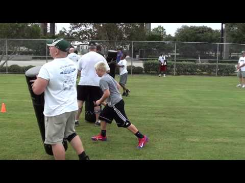 Austin Reed at the Donovin Darius NFL Youth Combine in Jacksonville, FL