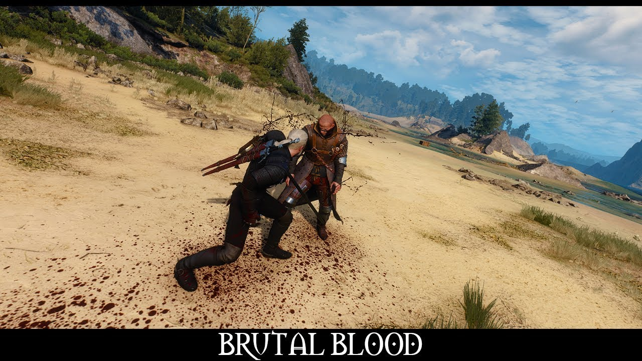 The Witcher 3 Mods - Brutal Blood