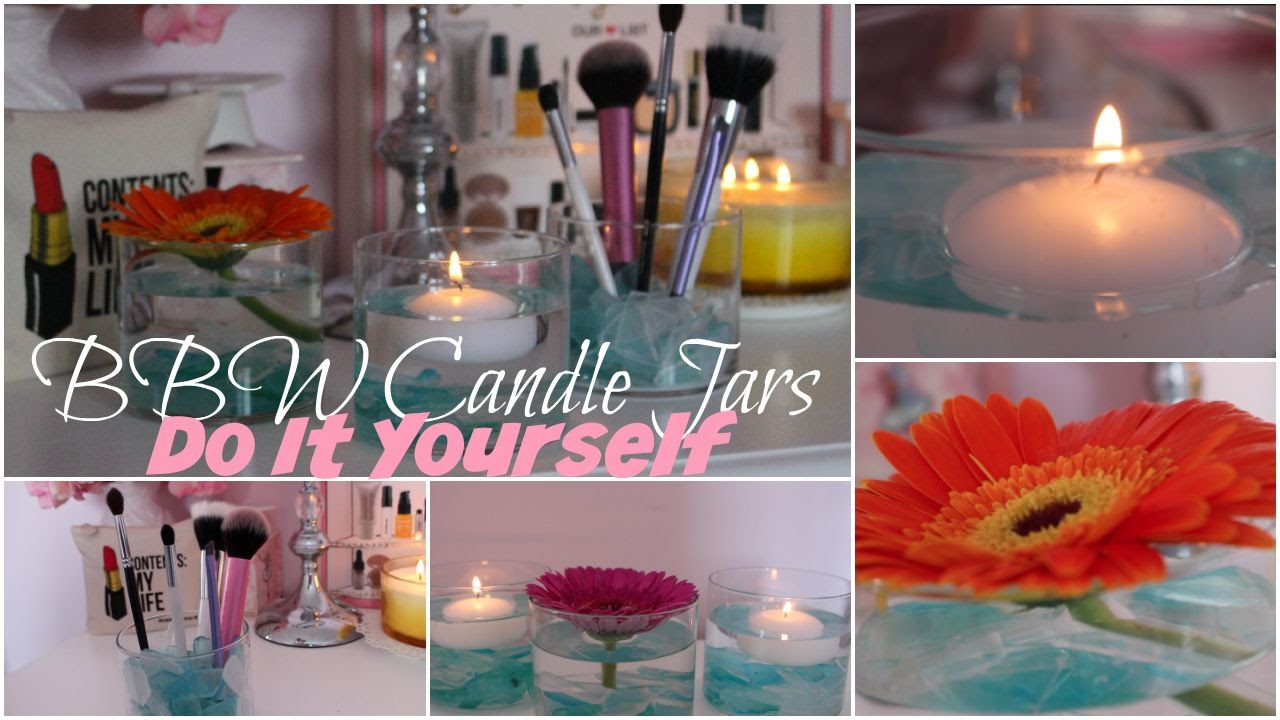 3 DIY Summer Room Decor Ideas feat. Bath and Body Works Candle Jars ...