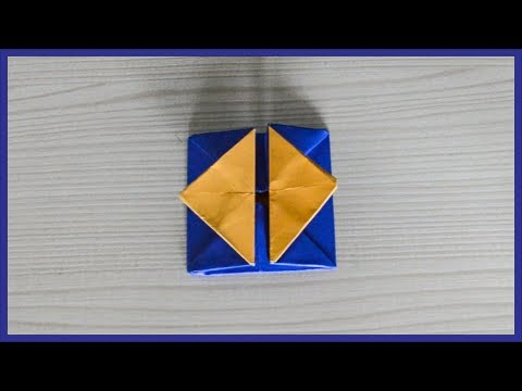 How To Make A Paper Gift Box With Flaps - Origami Gift Box With Flaps - Paper Activity