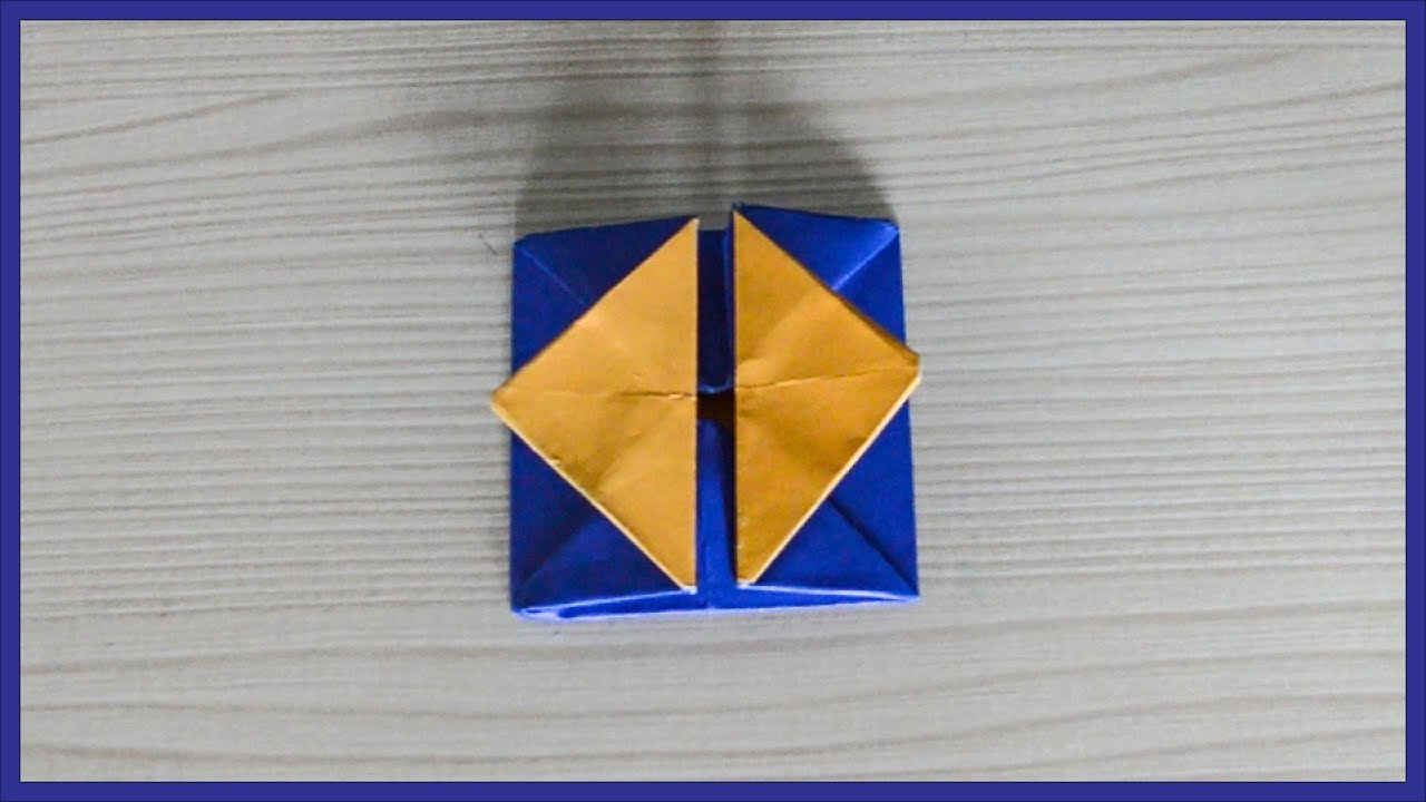 How to make origami box with flaps - YouTube | 720x1280