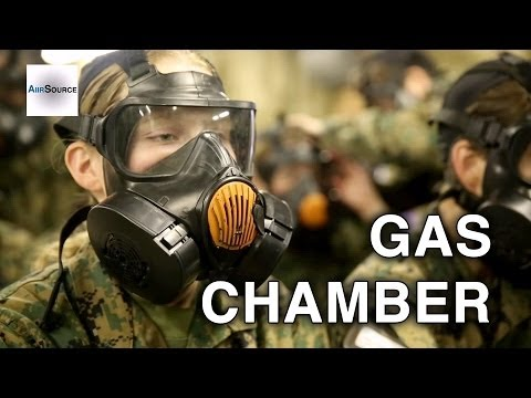 Marine Recruits Do Gas Chamber - US Marines Boot Camp