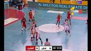 آخر دقائق من المباراة المشوقة مباراة مصر و المغرب في نهائي البطولة العربية لكرة السلة