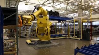 Heavy Duty Robotic Truck Unload System Offloads Large Automotive Modules