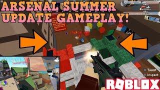 ARSENAL SUMMER UPDATE GAMEPLAY! (ROBLOX) *NEW MAPS & GUNS*