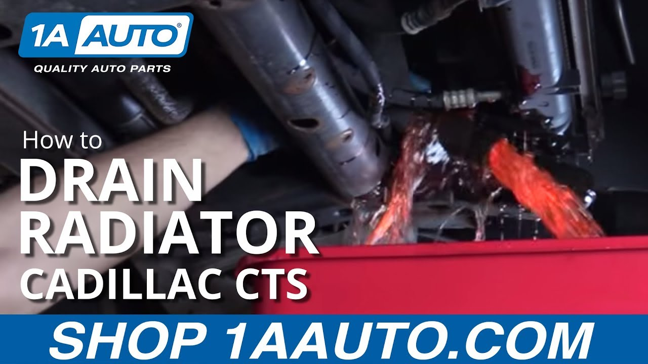 How to drain fill and bleed radiator 05 cadillac cts