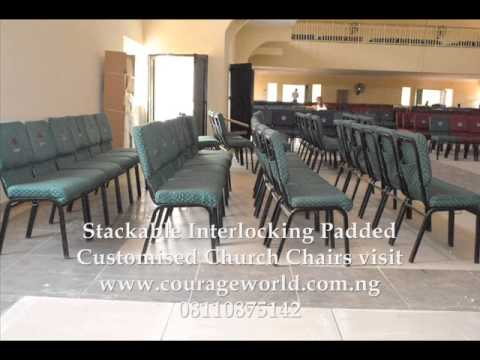 stackable padded chairs vintage rattan interlocking church youtube