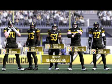 wholesale dealer 64725 82620 Madden NFL 17 Steelers Color Rush Jersey! - YouTube