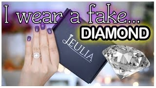 WHY I WEAR A FAKE DIAMOND WEDDING RING! | JEULIA JEWELRY