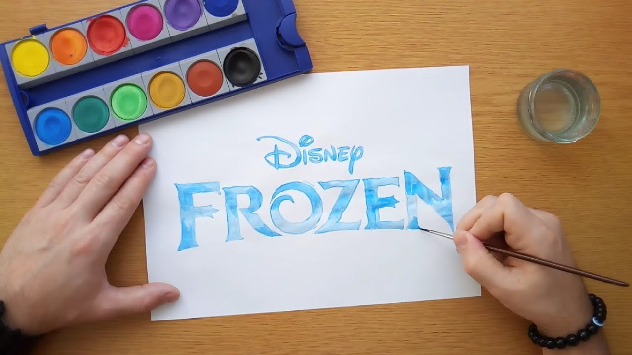 How to draw the Frozen logo (Disney) - (coloring pages ...