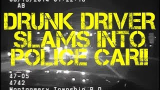 DRUNK DRIVER SLAMS INTO POLICE CAR | CAR CRASH