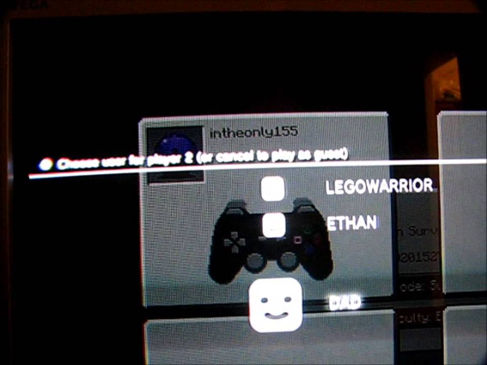 Split Screen Minecraft On PS No HDTV YouTube - Minecraft zusammen spielen ps3