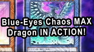 YGO Blue-Eyes Chaos MAX Dragon IN ACTION!