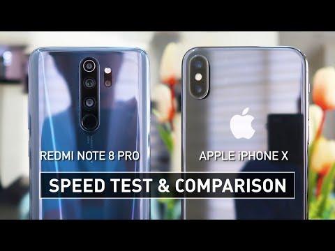 Redmi Note 8 Pro Vs IPhone X SPEED TEST | Zeibiz
