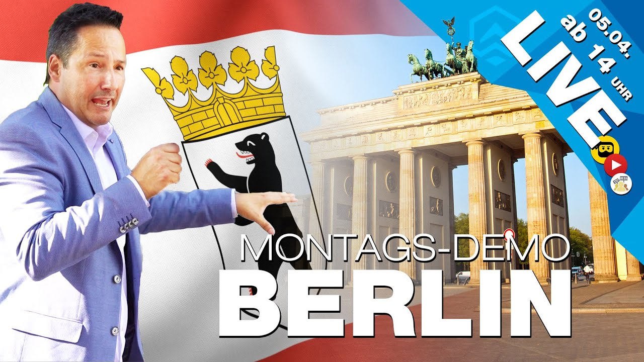 🔴 LIVE | Neue MONTAGS - D E M O S in Berlin | Brandenburger Tor, ab 14 Uhr | #b0504