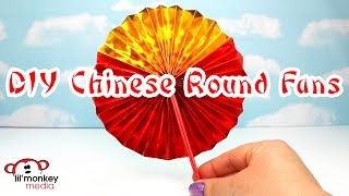 DIY Chinese New Year Round Fans!