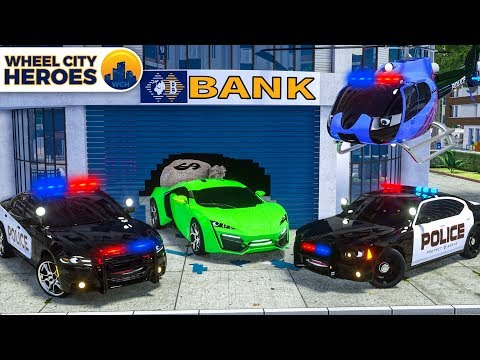 Police Motorcycle, Police Car, Patrol Truck Catching Sport Car | Wheel City Heroes (WCH) New Cartoon