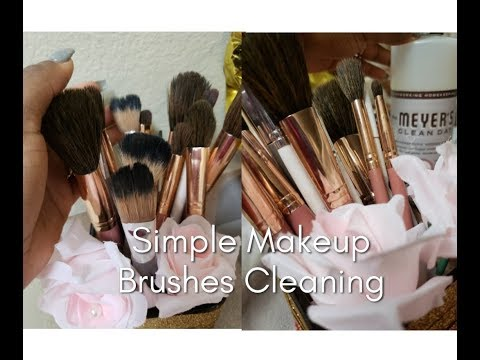 Cleaning Makeup Brushes | A Simple Technique | BH Cosmetic Brushes