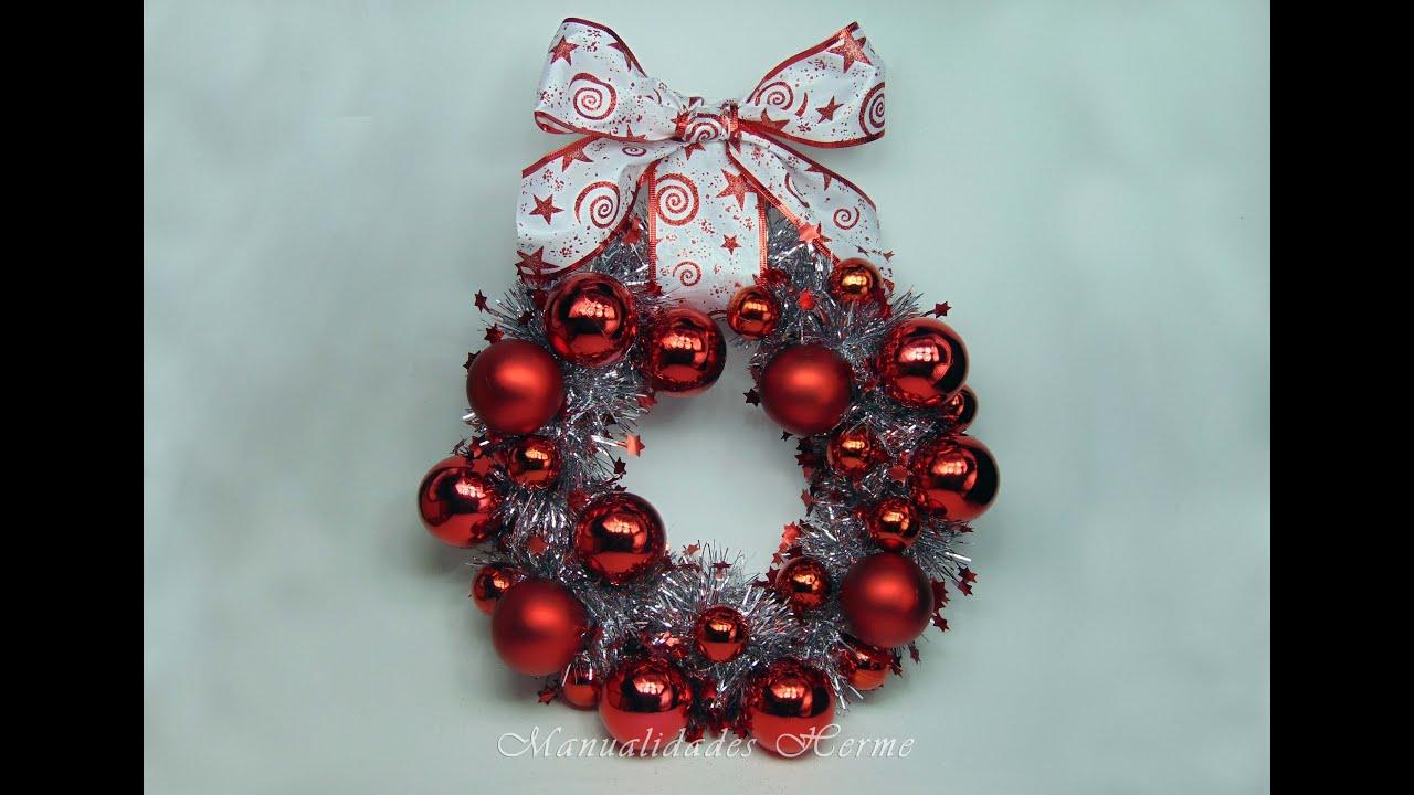 Como hacer una corona para navidad youtube - Como hacer cosas de navidad ...