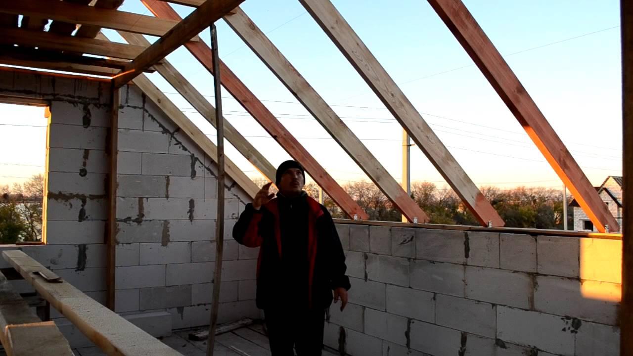 схема висячих стропил односкатной крыши