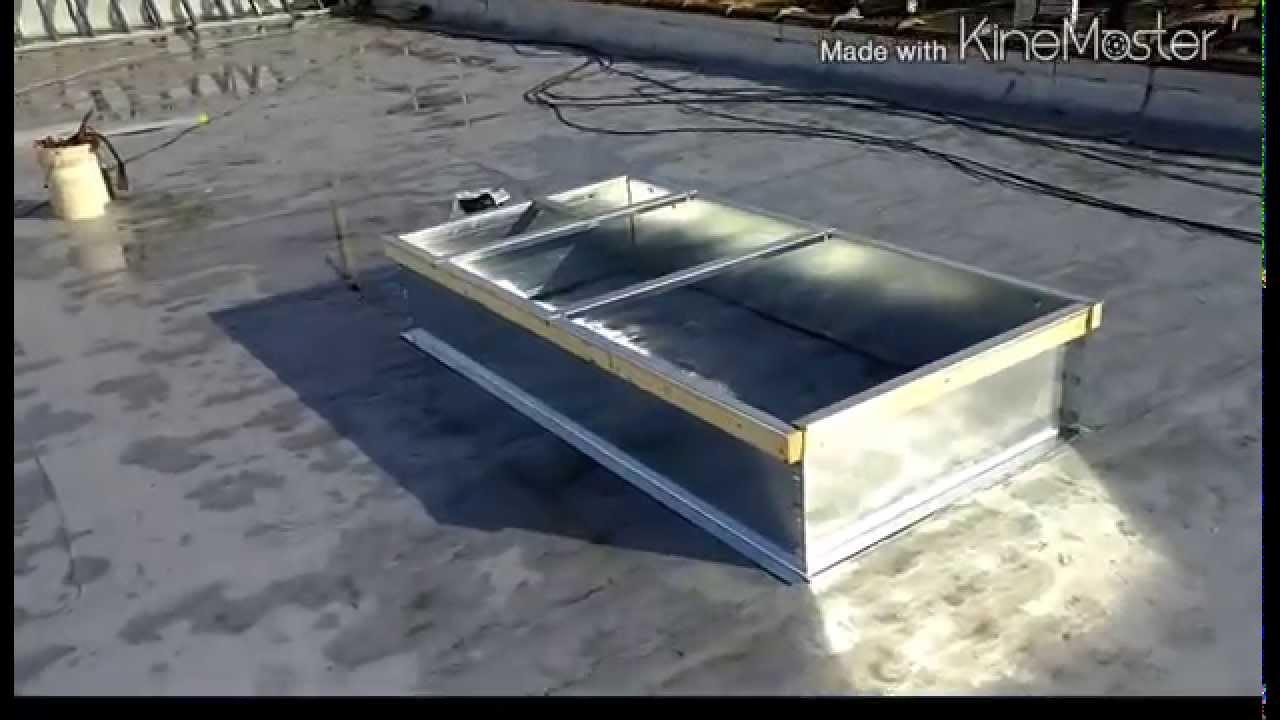 Hvac Rooftop Install Part 1 Hvac Youtube