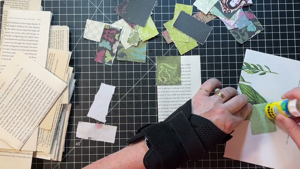 Craft with Me - Ephemera from Rejected Paper Collage Rolls!