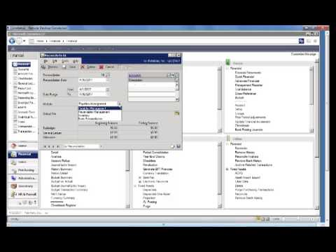 Dynamics GP 2013 New Features - Reconcile Bank Reconciliation to General Ledger