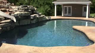 "The Secret to our custom ""Monogram Blue"" pool finish"