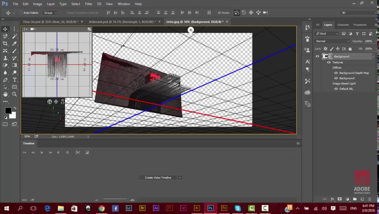 Adobe Photoshop CC 2015 New Features - Solid Extrusion 3D