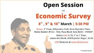 Open Session on Economic Survey (2016 17) Part 3