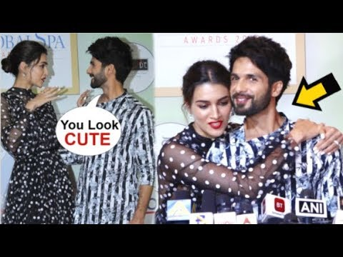 Shahid Kapoor & Kriti Sanon Share A CUTE Moment In Front Of Media At Geospa Awards 2019