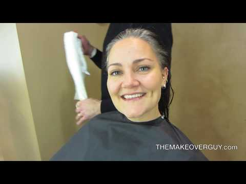 Long Hair Cut Super Short and Reveal the Gray! by Christopher Hopkins, The Makeover Guy