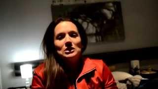 Online dating video - girl gets emotional over cake