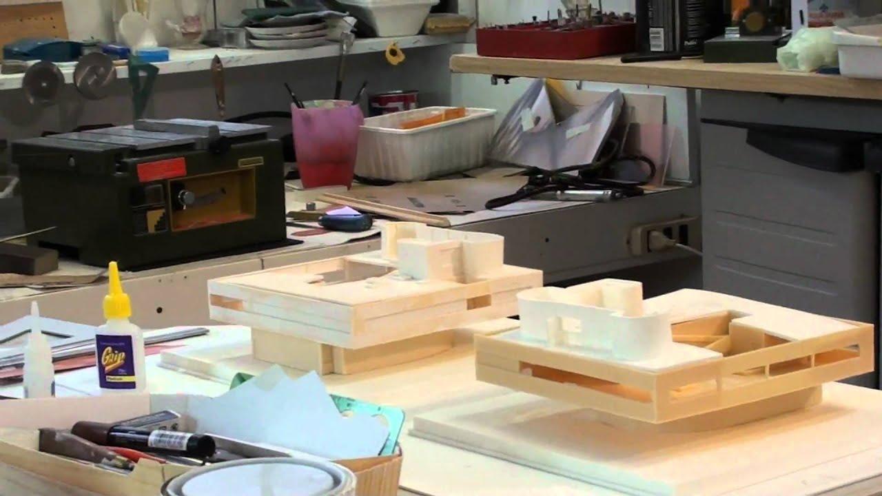 Le corbusier villa savoye interior - Le Corbusier Villa Savoye Models Under Construction Scale 1 100 1 200