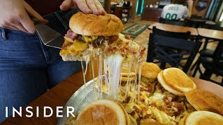 We Tried A Pizza Topped With 6 Bacon Cheeseburgers