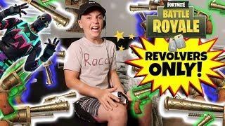 FORTNITE BATTLE ROYALE REVOLVER CHALLENGE! (ROCCO PIAZZA)