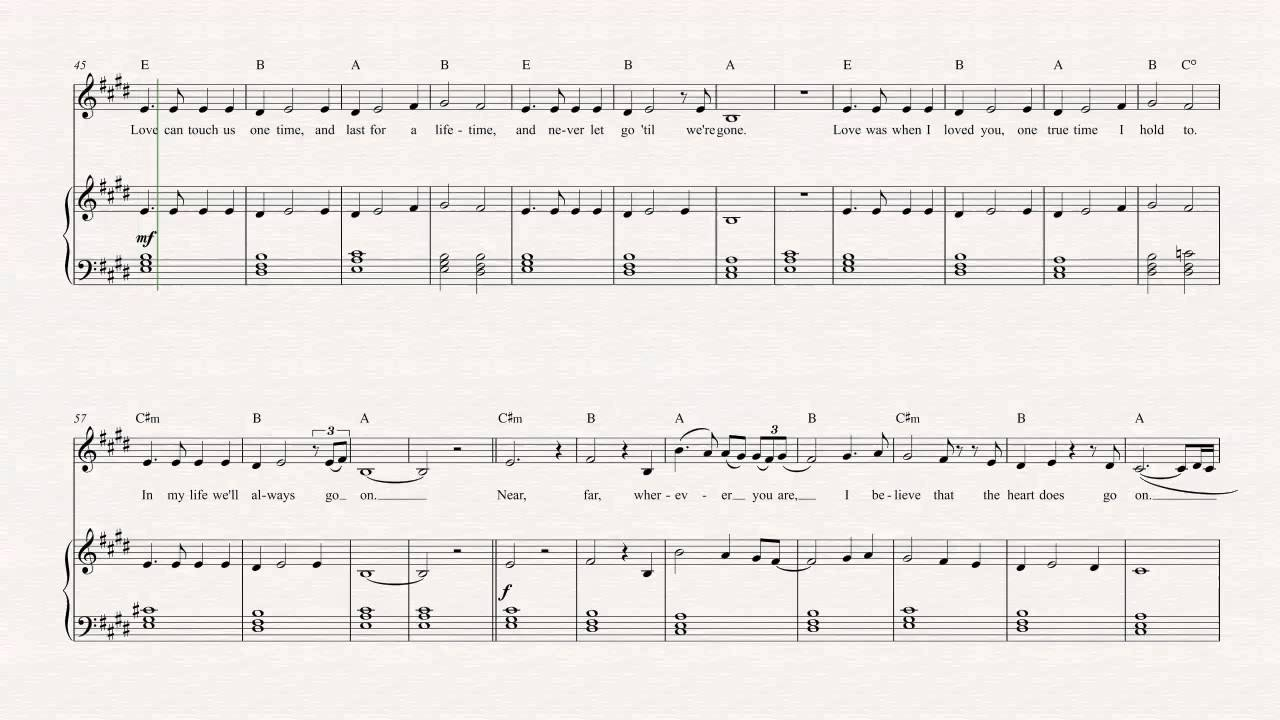 Flute - My Heart Will Go On - Celine Dion Sheet Music, Chords, u0026 Vocals - YouTube